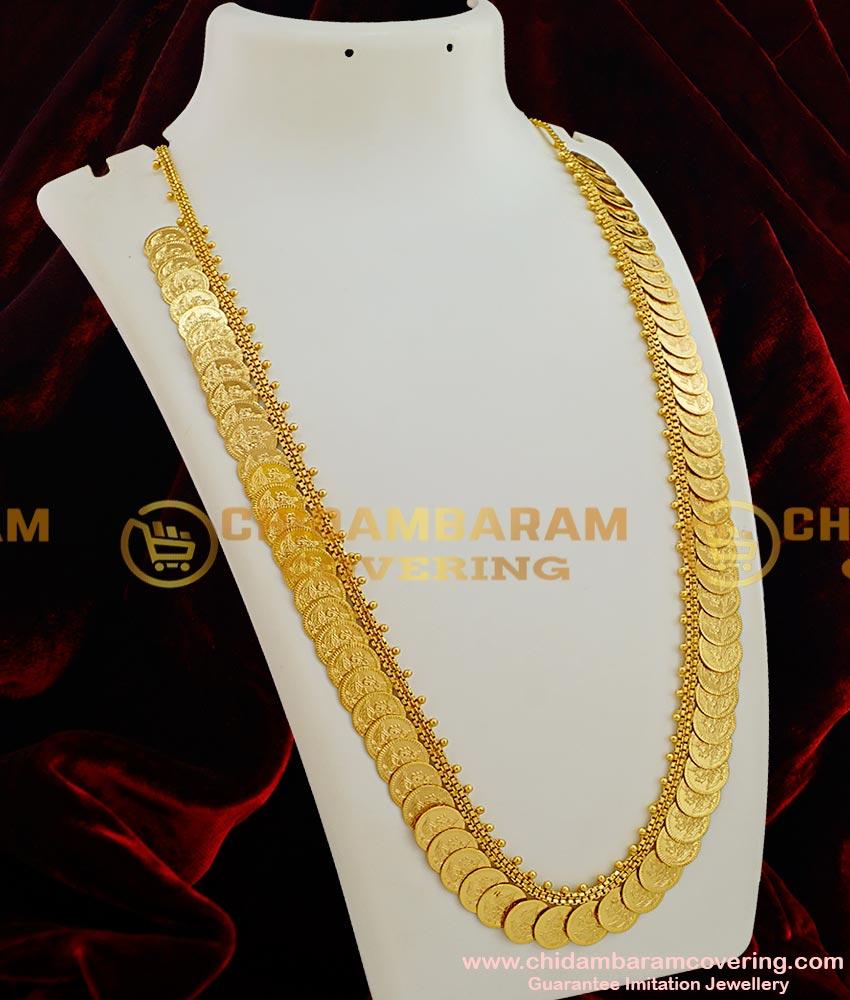 Hrm022 Handmade Lakshmi Coin Kasu Malai South Indian One