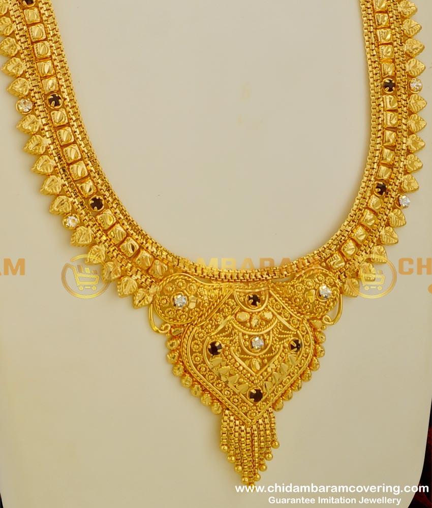 HRM035 – Plain Gold Covering Thin Delicate Haram Latest Imitation Designs Online