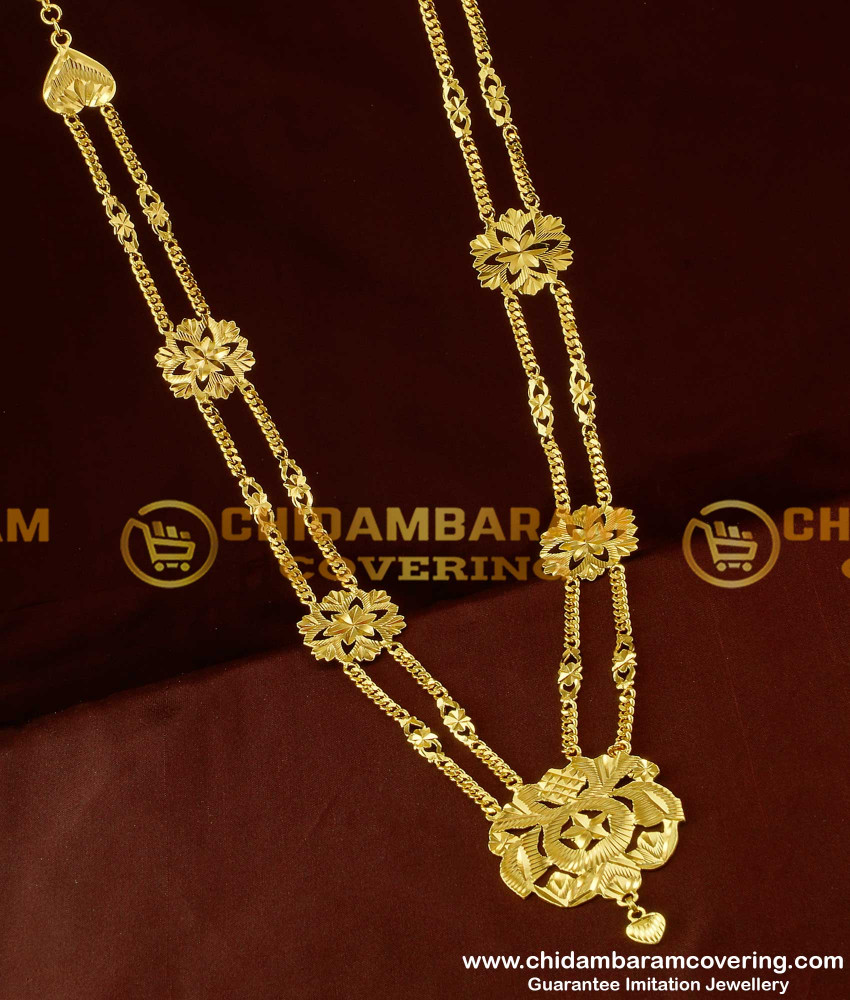 HRM109 - Two Line Governor Maalai Design Gold Plated Haram