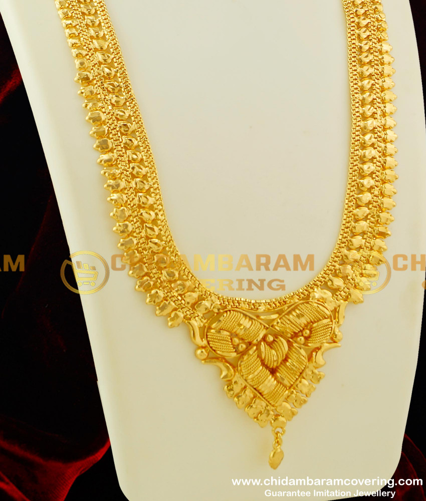 HRM125 - Buy Stunning Gold Calcutta Haram Design Online Shopping