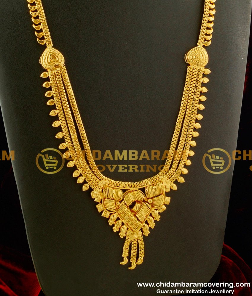 HRM127 - New Model Calcutta Bridal Haram Design Imitation Jewelry Online