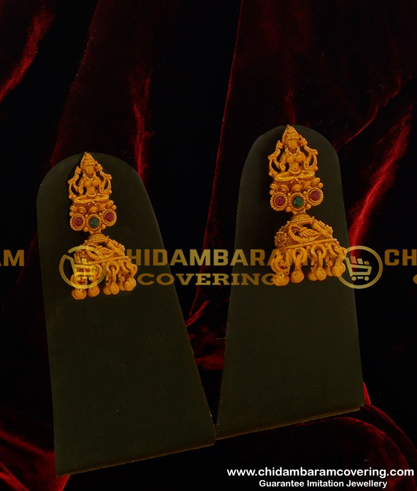 HRM150 - Temple Jewellery Mini Bridal Wedding Jewellery Set Matte Finish Nagas Collection Online
