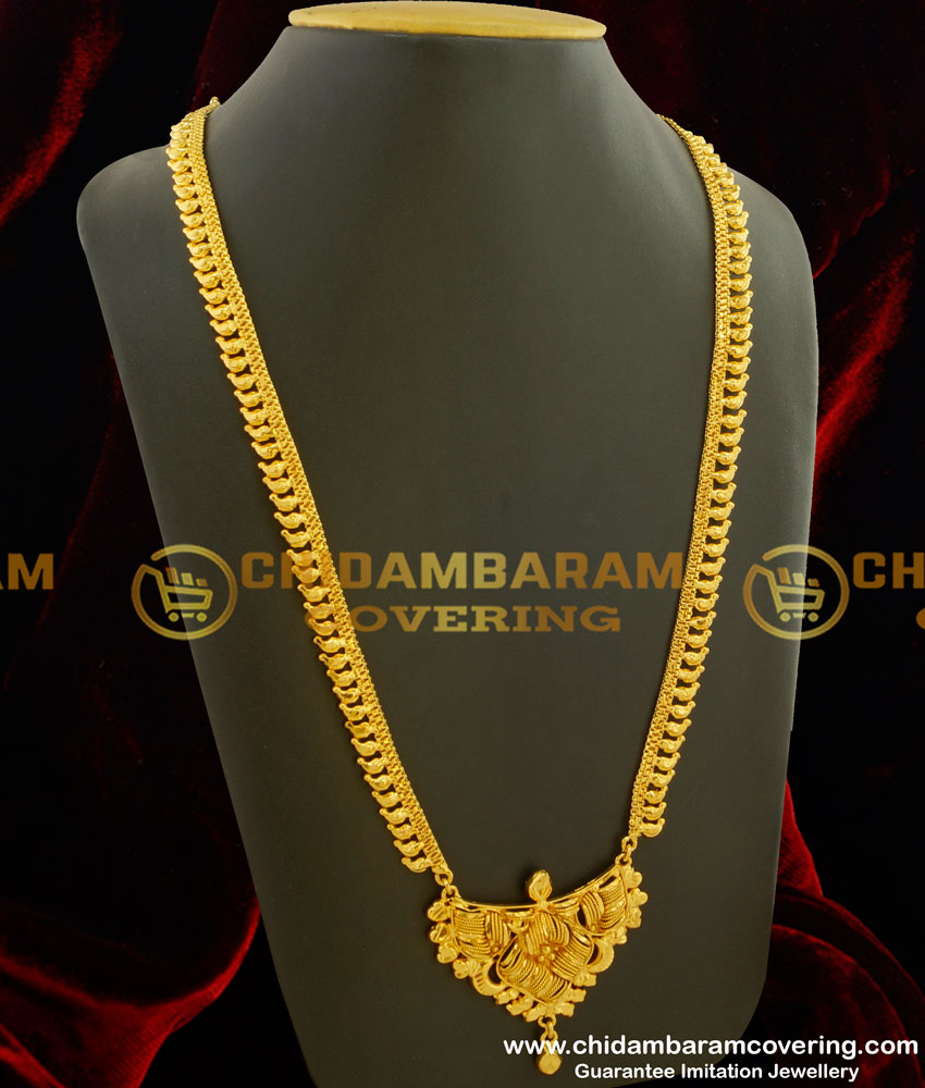HRM174 - Chidambaram Covering Gold Like Design Gold Plated Haram Buy Online