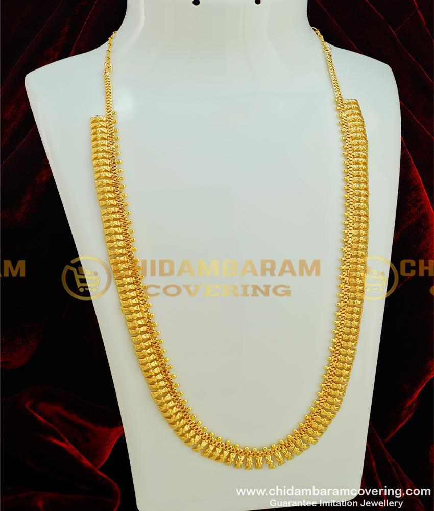 HRM283 - Simple Light Weight Kerala Haram Design Guarantee Jewellery Buy Online