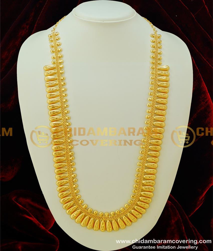 HRM303 - Handmade Light Weight Kerala Bridal Haram Design Guarantee Jewellery