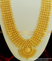 HRM305 - Kerala Jewelry Light Weight Designer Broad Bridal Long Haram Design Online Gold Plated Jewellery