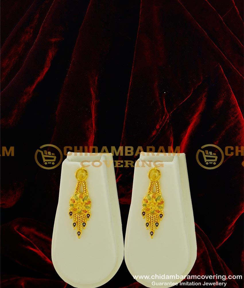 HRM319 - Calcutta Design Bridal Gold Haram Enamel Forming Haram Set Gold Forming Jewellery
