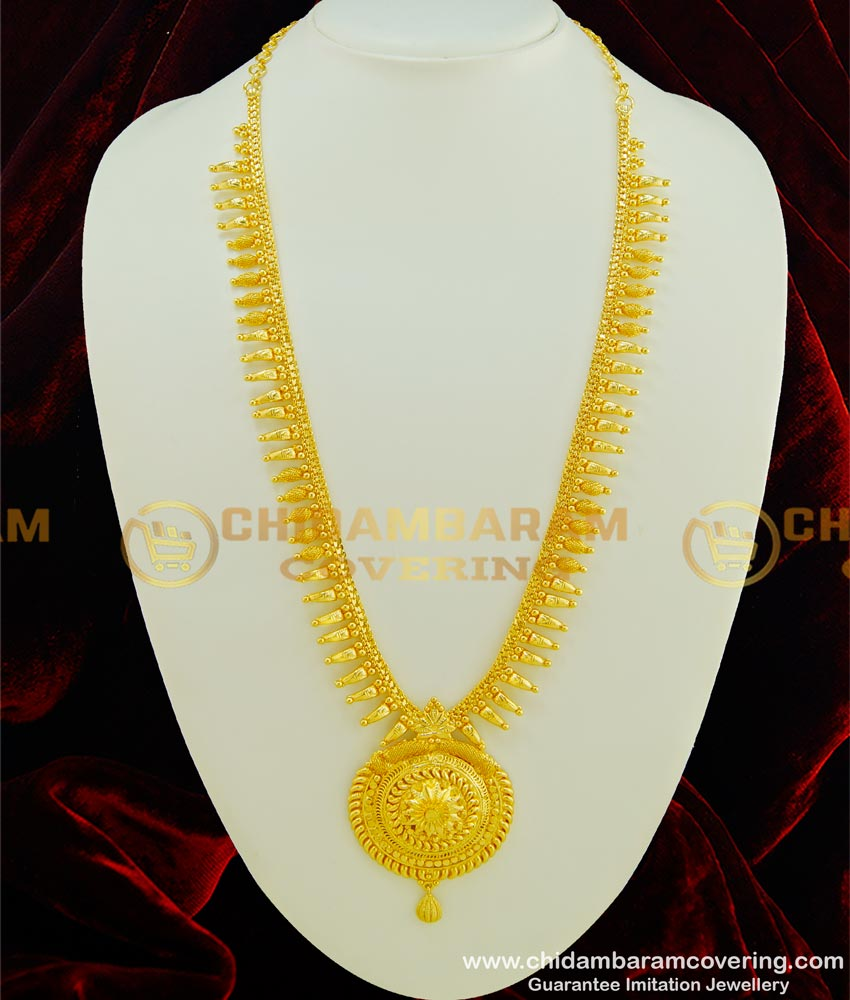 HRM350 - Latest Gold Harm Design Big Round Dollar Haram Pure Gold Plated Jewellery