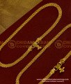 ANK006 - Bridal Wear Chain Design Gold Anklet Kolusu Design for Women
