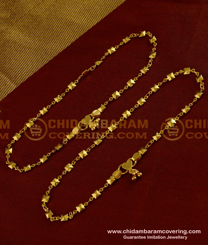 ANK007 - Most Beautiful Simple Thin Chain Model Anklet Design for Girls
