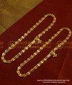 ANK012 - south Indian One Gram Gold anklet kolusu Design for women