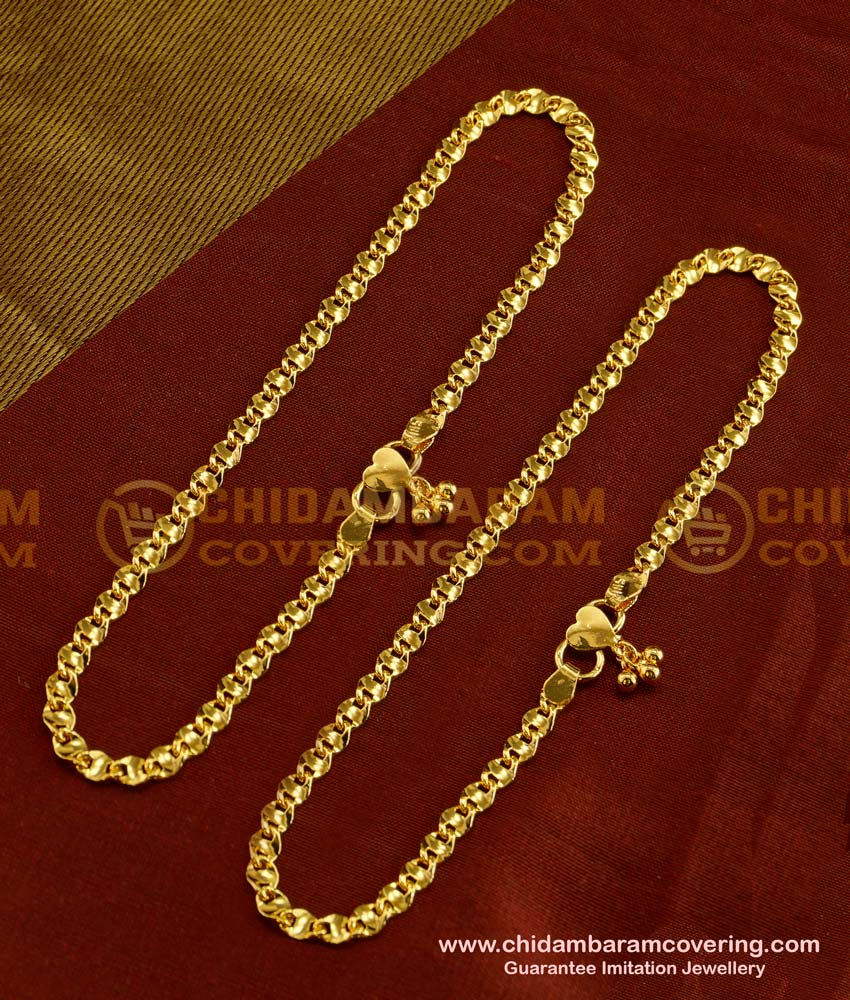 ANK017 - Buy Latest Anklet Design Gold Plated Kolusu Buy Online Shopping