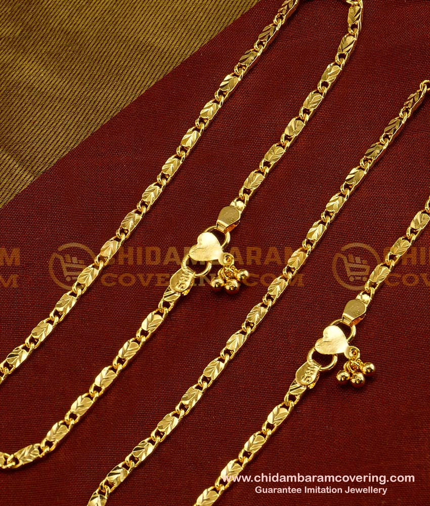 ANK022 - 10.5 Inch Light Weight  Simple Daily Wear Anklet Design Best Payal Design