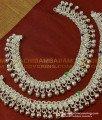 ANK031 - Bridal Wear White Metal Heavy Weight Full Beads Anklet Designs Salangai Kolusu Buy Online