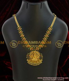 f02dd9f1cb3 NLC011 - Adorable One Gram Gold Stone Lakshmi Necklace Tamilnadu Imitation  Jewellery