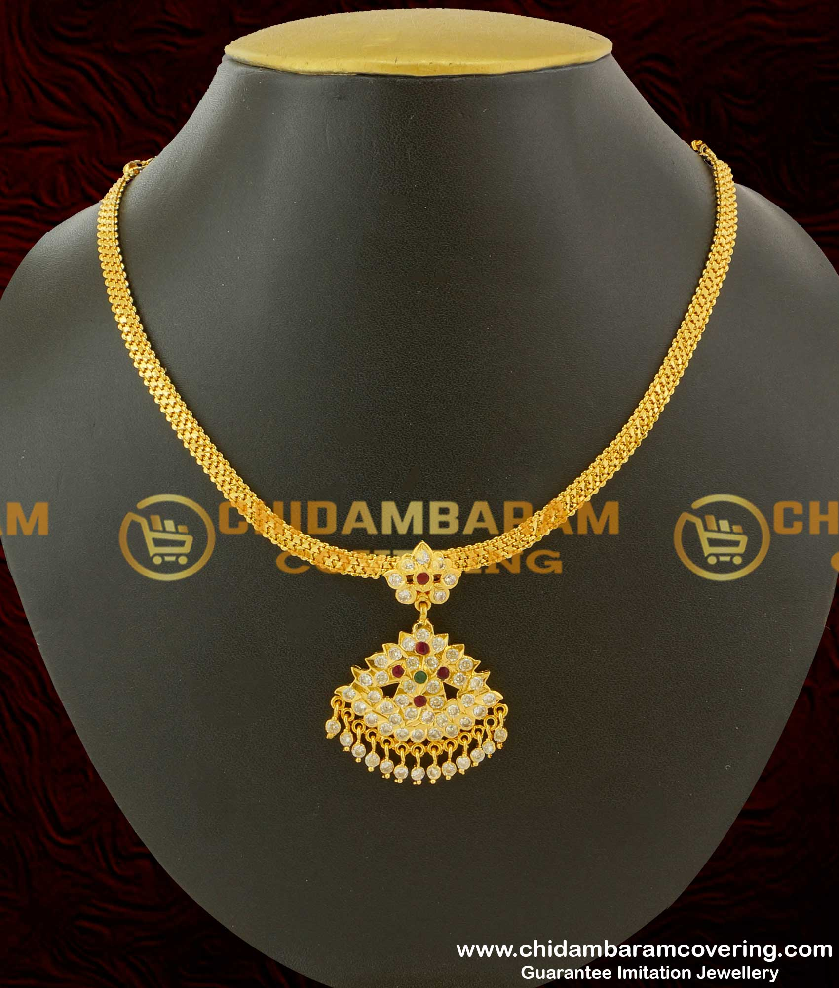 Buy Traditional Stones Attigai Gold Plated South Indian Jewellery