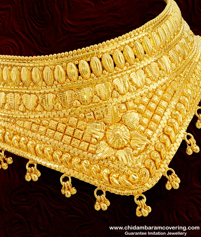NLC121 - Attractive Heavy Choker Bridal Wear from Chidambaram Covering Online