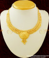 NLC282 - Traditional Look Gold Covering Guarantee Necklace Design for Women