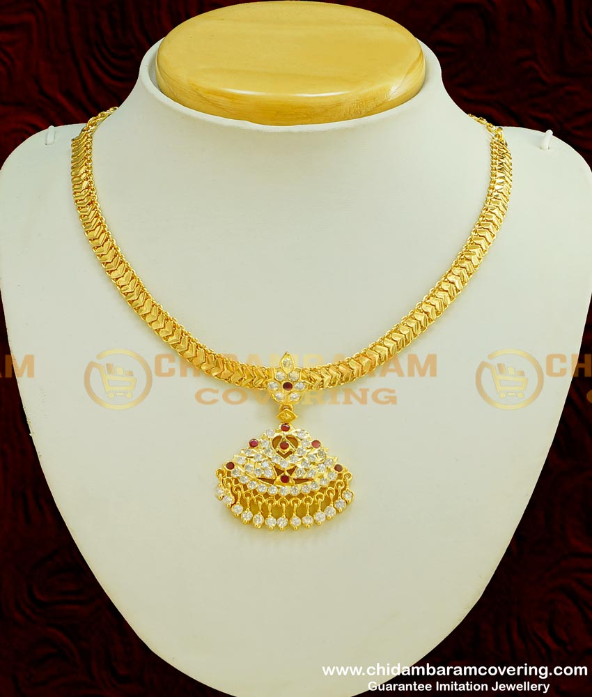 NLC373 - Traditional Impon Attigai Handmade South Indian Imitation Jewellery Collections