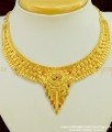 NLC384 - Traditional Bridal Wear Calcutta Short Necklace Forming Gold Jewellery Buy Online