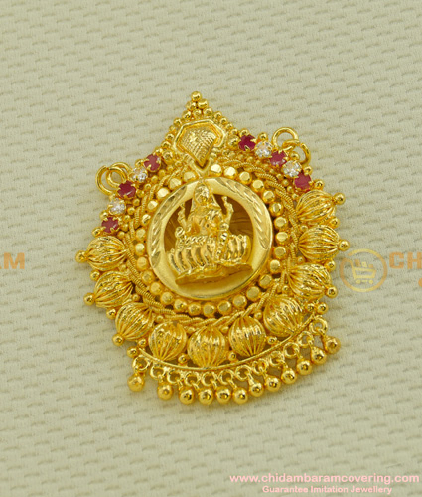 PND018 - New Collection Traditional Lakshmi Stone Pendant Low Price Buy Online