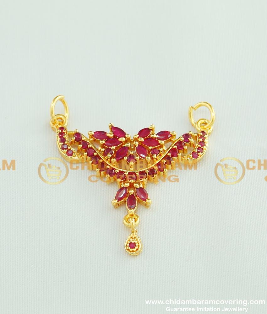 PND031 - One Gram Gold Plated Stunning Gold Full Stone Locket Design for Female