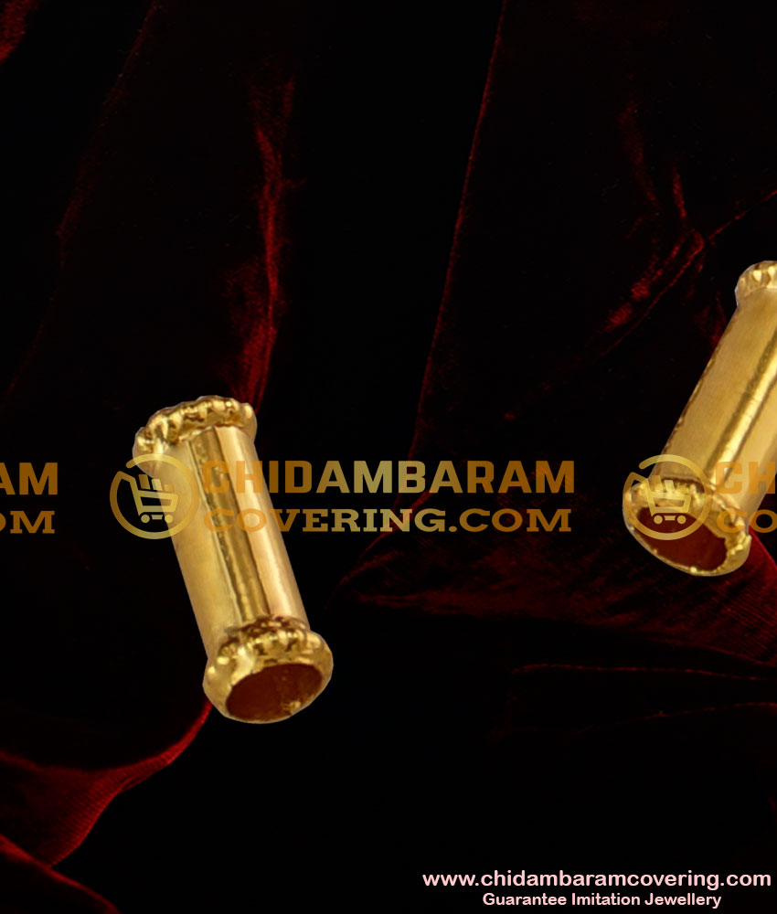 TAL25 - Gold Plated Imitation Jewelry Thali Nanal Pipe Set Design For Traditional Thali