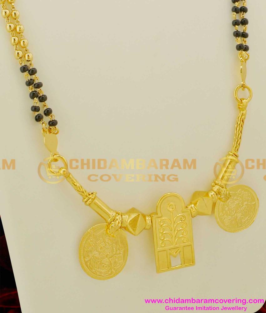 THN10 - Thennai Maram Thali With Karukamani Chain (Karimani Thali) Malaysian Thali Design Online