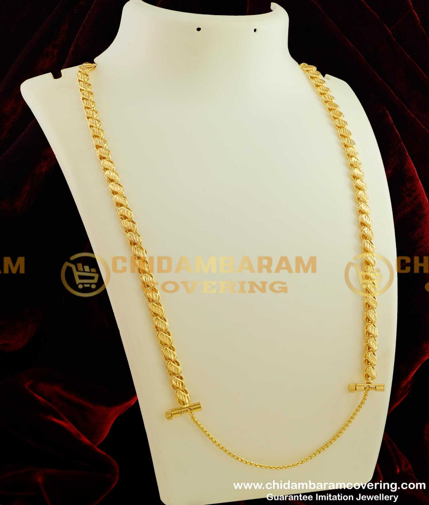 THN19 - Sundari Gold Plated Chain with Screw Lock South Indian Fashion Collections For Women