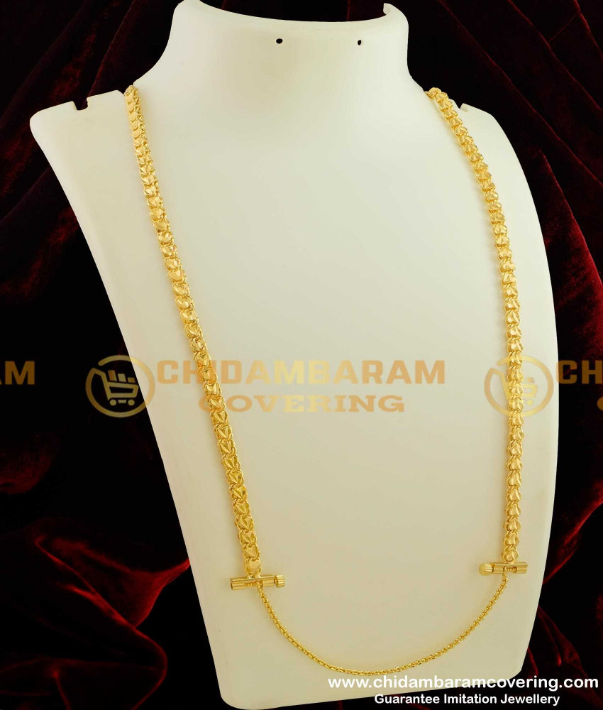 THN20 - Heartin Thali Chain Designs With Screw Lock Gold Covering Daily Use Jewellery Collections